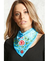 Forever 21 - Embroidered Bandana Scarf - Lyst