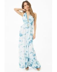 2492ed9740a Forever 21 Boho Me Crochet Off-the-shoulder Maxi Dress in White - Lyst