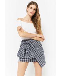 Forever 21 - Plaid Tie-front Mini Skirt - Lyst