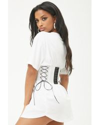 Forever 21 - Transparent Lace-up Hook-and-eye Belt - Lyst