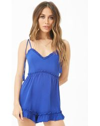 Forever 21 - Ruffle-trim Playsuit - Lyst