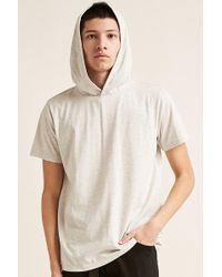 Forever 21 - Hooded Heather Knit Tee - Lyst