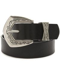 Forever 21 - Studded Faux Leather Belt - Lyst