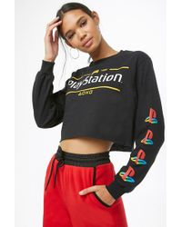 Forever 21 - Playstation Graphic Crop Top - Lyst