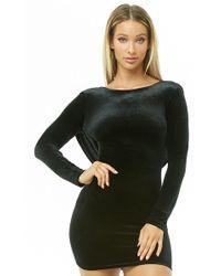 10249a86b8 Lyst - Forever 21 Crushed Velvet Tube Dress in Black