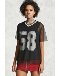 Forever 21 | Combo Mesh Jersey Tee | Lyst
