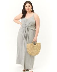 0fab63b320f9 Forever 21 - Women's Plus Size Tie-front Maxi Dress - Lyst