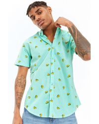 Forever 21 - Drill Clothing Striped Avocado Print Shirt - Lyst