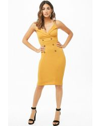 Forever 21 - Double-breasted Cami Dress - Lyst