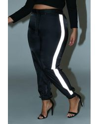 a12e2d4fe057f Forever 21 - Women s Plus Size Belted Contrast Wind Trousers - Lyst