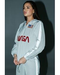 5f55ac01f3 Forever 21 - Nasa Reflective Hooded Pullover Windbreaker - Lyst