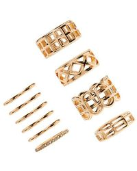 Forever 21 - Cutout Stackable Ring Set - Lyst