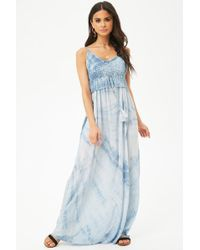 Forever 21 - Women's Boho Me Shibori Maxi Dress - Lyst