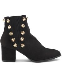 Forever 21 - Lemon Drop By Privileged Studded Booties - Lyst