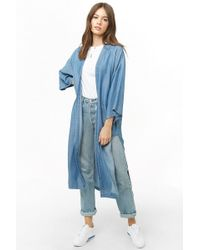 Forever 21 - Women's Chambray Duster Kimono Jacket - Lyst