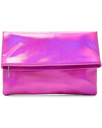 Forever 21 - Metallic Fold-over Clutch - Lyst