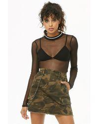 Forever 21 - Belted Camo Cargo Mini Skirt - Lyst