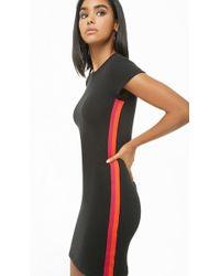 Forever 21 - Striped-trim Bodycon Dress , Black/orange - Lyst