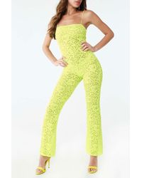 Forever 21 - Sheer Lace Jumpsuit - Lyst