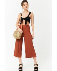 Forever 21 - Ribbed High-rise Culottes - Lyst