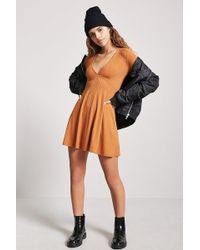 Forever 21 - Women's Ribbed Skater Dress - Lyst
