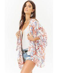 Forever 21 - Leaf Print Kimono - Lyst