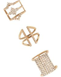 Forever 21 | Cutout Ring Set | Lyst