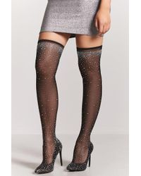 Forever 21 | Bejeweled Mesh Boots | Lyst