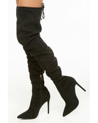 Forever 21 - Faux Suede Over-the-knee Boots - Lyst