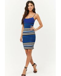 Forever 21 - Striped Bodycon Dress - Lyst