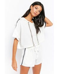 Forever 21 - Cropped Hoodie & Shorts Set - Lyst