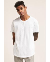 Forever 21 - T-Shirt mit gerundetem Saum - Lyst
