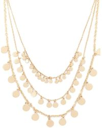 Forever 21 - Layered Disc Charm Necklace , Gold - Lyst