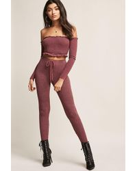 Forever 21 - Ribbed Drawstring Pants - Lyst