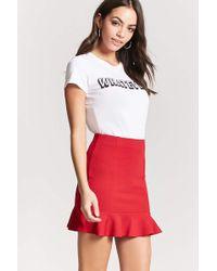 Forever 21 - Fluted Mini Skirt - Lyst