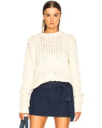 JW Anderson - Cable Jumper With Jwa Embroidery - Lyst