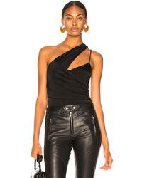 Michelle Mason - Asymmetrical Gathered Bodysuit - Lyst