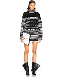 Givenchy - 4g Stitched Printed Oversized Turtleneck Sweater - Lyst