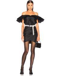 Alessandra Rich - Silk Taffeta Butterfly Dress - Lyst
