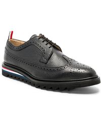 Thom Browne - Pebble Grain Classic Longwing Brogue With Threaded Rubber Sole - Lyst