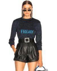Alberta Ferretti - Friday Lurex Crewneck Sweater - Lyst