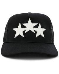 Amiri - Leather Star Trucker Hat - Lyst