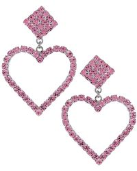 Alessandra Rich - Heart Earrings - Lyst