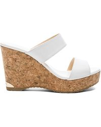 Jimmy Choo - Parker 100 Leather Wedge - Lyst