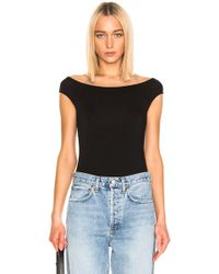 Enza Costa - Off Shoulder Bodysuit - Lyst