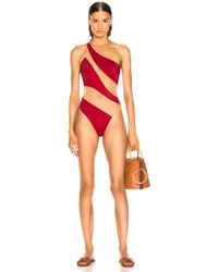 Norma Kamali - For Fwrd Snake Mesh Mio Swimsuit - Lyst