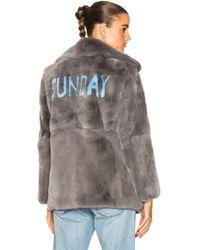 Alberta Ferretti - Sunday Rabbit Fur Coat - Lyst