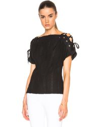 Thakoon - Lace Up Sleeve Top - Lyst