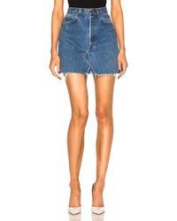 RE/DONE - Levi's High Rise Mini Skirt - Lyst