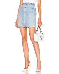 RE/DONE - Denim Pencil Skirt In Indigo - Lyst
